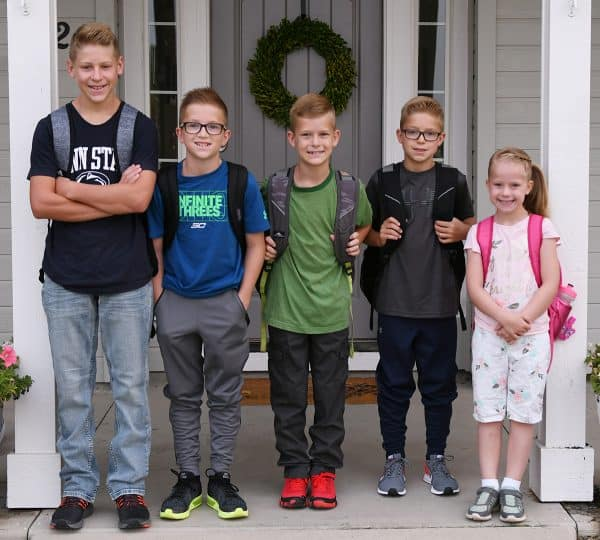 fb0d34b32 School Year Thoughts: August 22 began a new phase for our family. All five  of the kids in school…all day long. Over the years, depending on where  we've ...