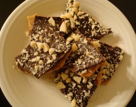 Mock Chocolate Macadamia Toffee