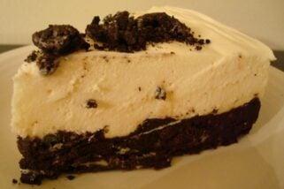 Oreo-Crusted White Chocolate Mousse Torte