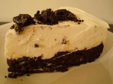Oreo-Crusted White Chocolate Mousse Torte