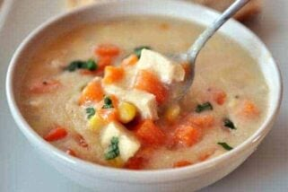 Chicken Corn Chowder with Sweet Potatoes