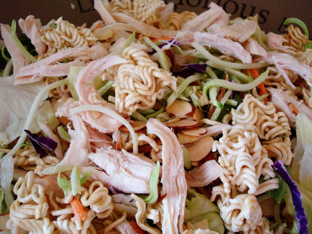 asian salad in a bowl