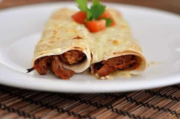 honey lime chicken enchiladas - Mels Kitchen Cafe