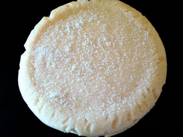 top view of a sugar cookie