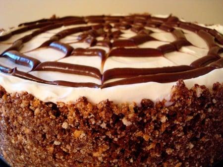 No-Bake Spiderweb Cheesecake | Mel's Kitchen Cafe