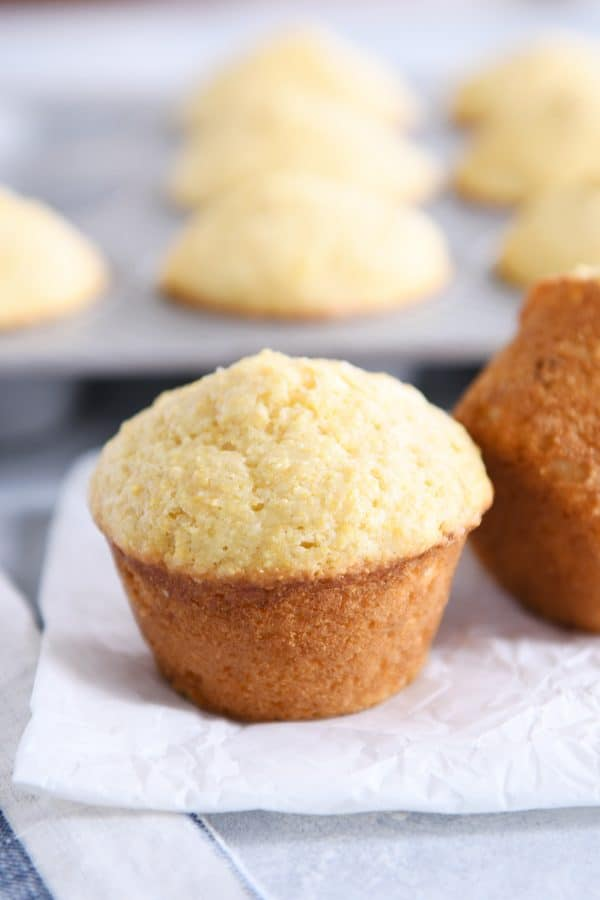 baked light and fluffy cornbread muffins