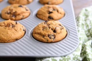 Perfect Pumpkin Chocolate Chip Muffins