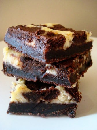 Black and White Cheesecake Squares