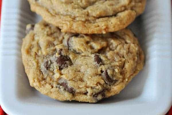 Chewy Blended Oatmeal Chocolate Chip Coconut Cookies