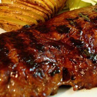 Succulent Steak and Hasselback Potatoes