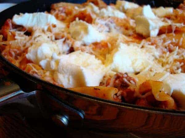 Simple and Meaty Skillet Lasagna
