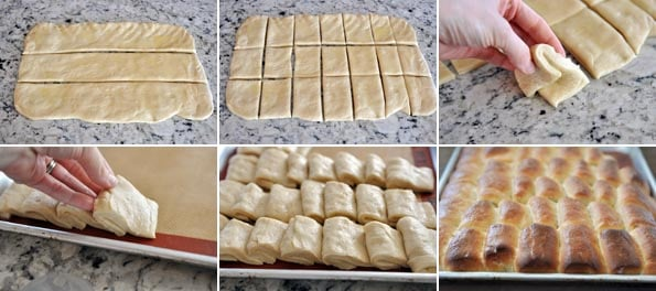 step-by-step pictures of how to make parker house rolls