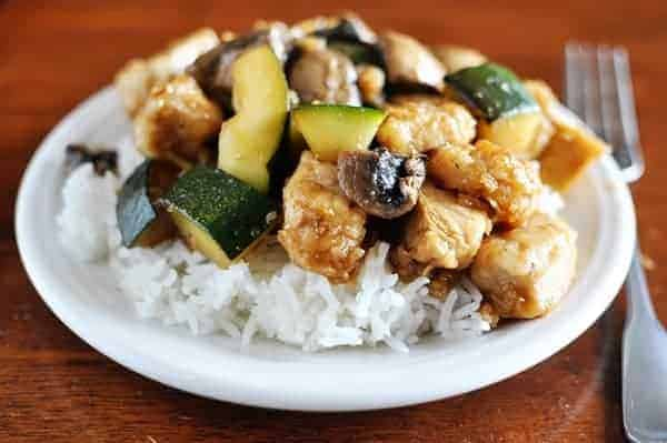 Chicken with Mushrooms and Zucchini