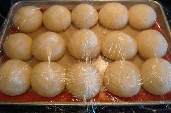 Dough On Sheet Risen