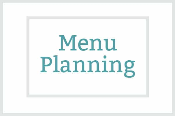 menu planning featured image