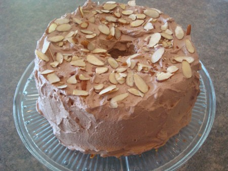 Frosted Cake with Nuts