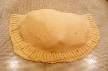 unbaked calzone