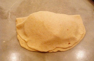 unbaked calzone without crimped edges