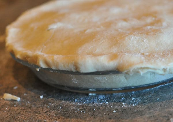 unbaked pie with double crust