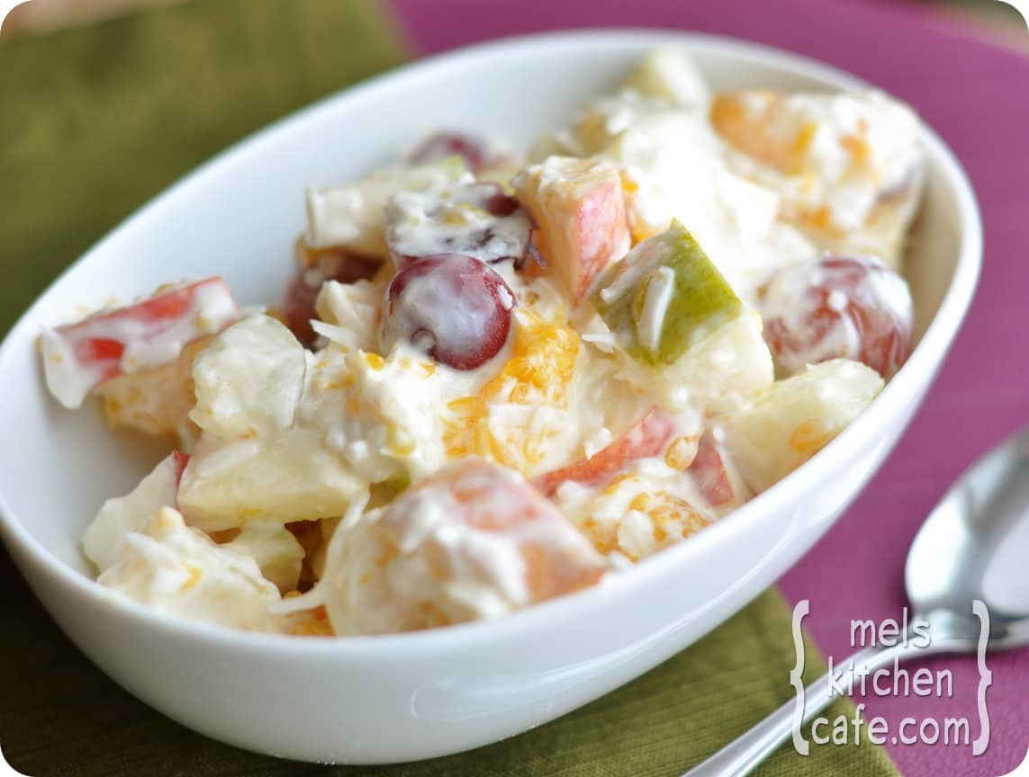 Creamy 5 Cup Fruit Salad Mel S Kitchen Cafe
