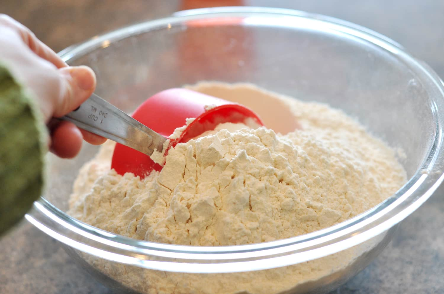 Gently Scoop The Cup Into The Flour.