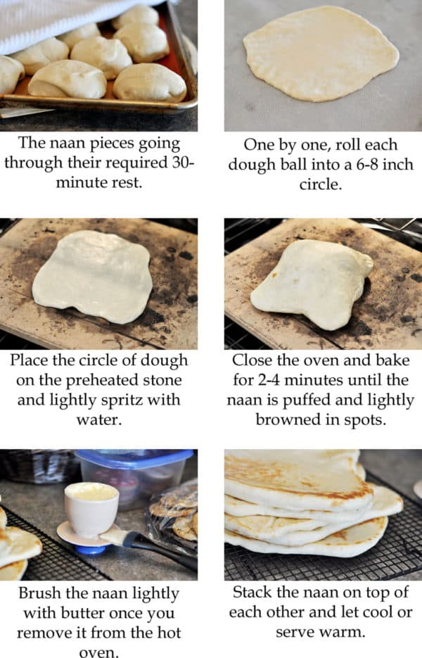 step-by-step collage with pictures of how to make flatbread