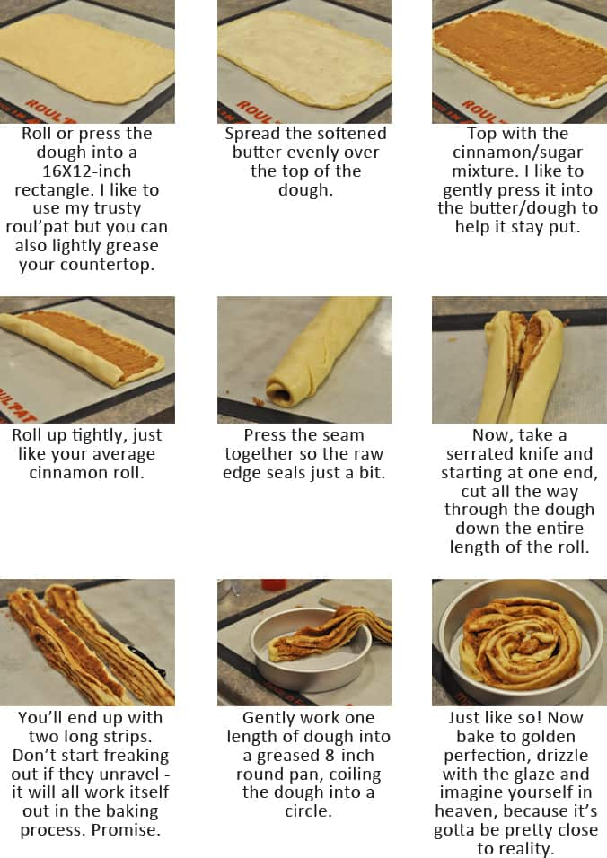 Giant Cinnamon Rolls With Step By Step Photos Mel S