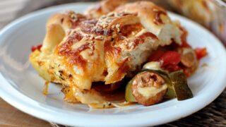 Breadstick and Pizza Casserole