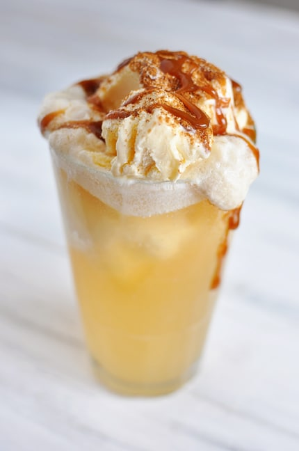 Caramel Apple Cider Floats