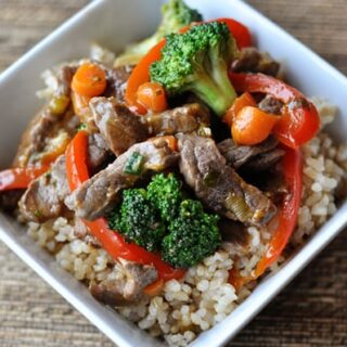 Orange Beef and Veggie Stir Fry