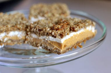 Pumpkin Crumble Cheesecake Bars