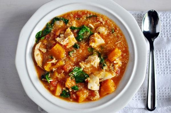Chicken and Butternut Squash Quinoa Stew