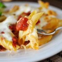 Pasta al Forno {Baked Pasta with Tomatoes and Mozzarella}