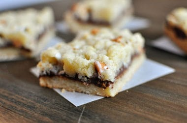 Nutella Butterscotch Crumble Bars