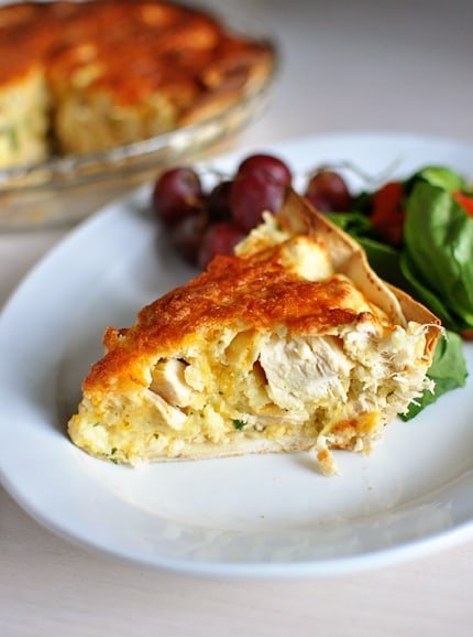 Cheesy Chicken Quesadilla Pie