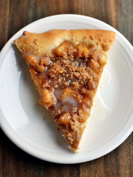 Apple Cinnamon Streusel Dessert Pizza