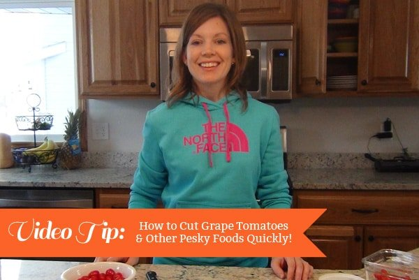Video Tip: Cutting Grape Tomatoes Quickly