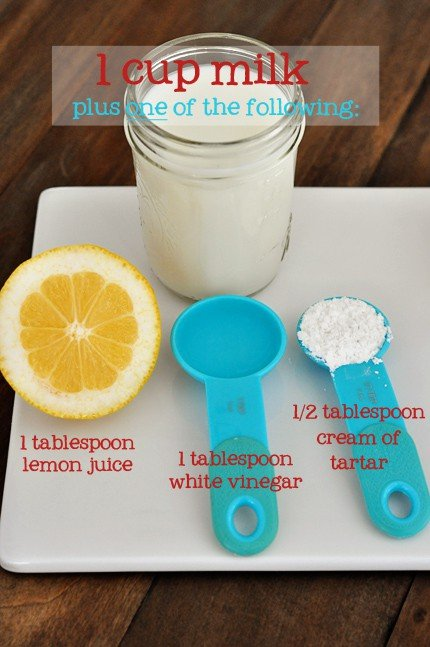 Simple Buttermilk Substitutions