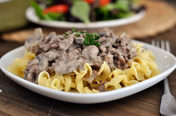 Easy Ground Beef Stroganoff No Condensed Soup Mel S Kitchen Cafe