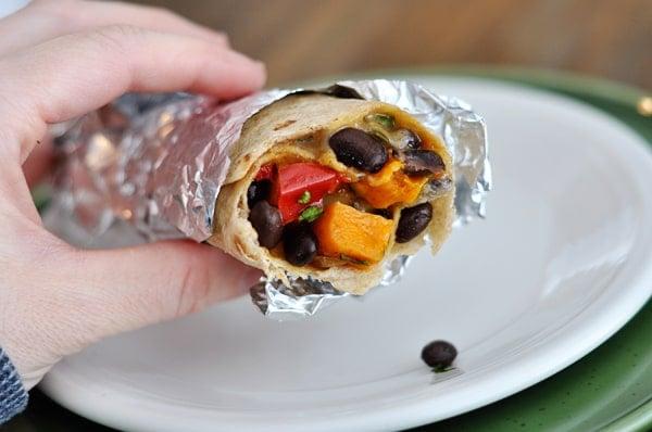 Black Bean and Sweet Potato Burritos