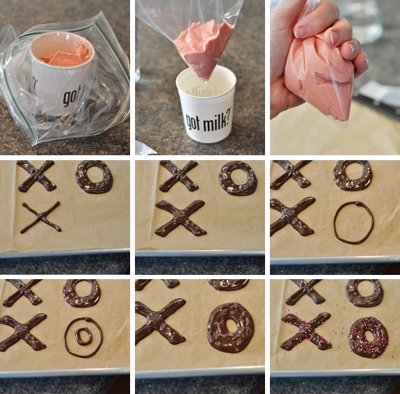 Chocolate X's and O's for Valentine's Day from Mel's Kitchen Cafe