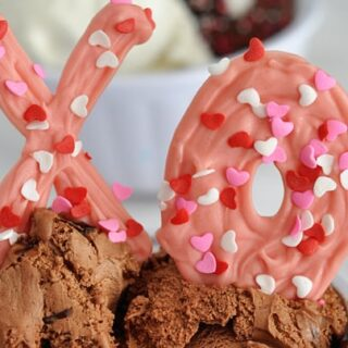 Chocolate X's and O's {Perfect Ice Cream Toppings!}