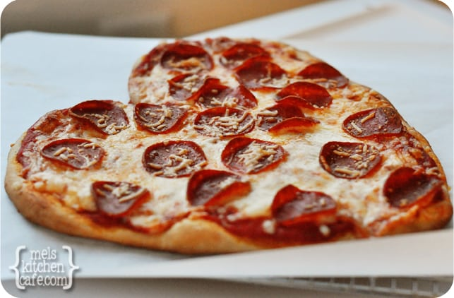 Heart Shaped Pizza from Mel's Kitchen Cafe