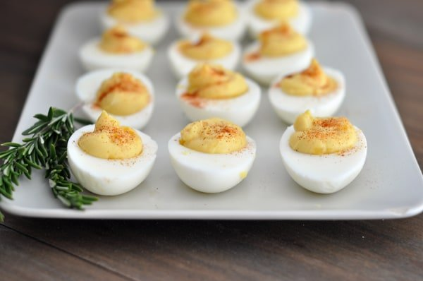 Am I the only one that associates deviled eggs with Easter? Clearly ...