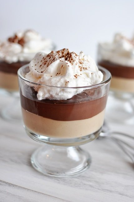 Layered PB and Chocolate Puddings