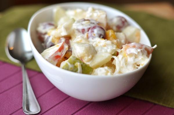 Creamy 5-Cup Fruit Salad
