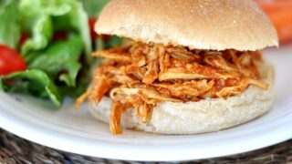 BBQ Pulled Chicken Sandwiches {Slow Cooker}