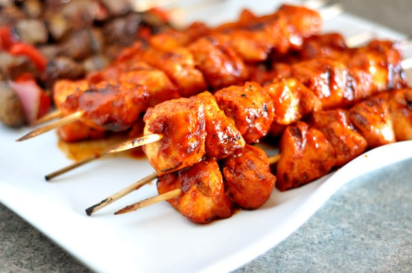 BBQ Chicken Kebabs