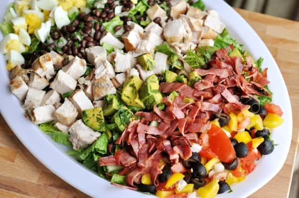 Southwestern Cobb Salad with Green Goddess Dressing