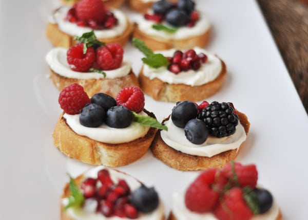 Sweet Berry Bruschetta